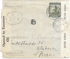 SH 0550. N° 242 STANLEYVILLE 14.8.42 S/Lettre Vers BERNE (CH). DOUBLE CENSURE. TB - Congo Belga