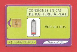 TELECARTE 50 U + 5 Off..  TIRAGE 1 000 000 EX  Consignes - Francia