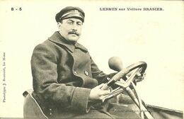 72 SARTHE LE MANS ? PILOTE COURSE AUTOMOBILE LEBRUN SUR VOITURE BRASIER GROS   PLAN  A VOIR - Cartes Postales