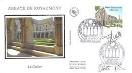 FRANCE. FDC.n°208694. 26/09/2009. Cachet Asnières Sur Oise. Abbaye De Royaumont. Le Cloitre. Signé - 2000-2009