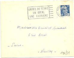 ILLE & VILAINE - Dépt N° 35 = RENNES GARE 1955 = FLAMME SECAP  ' Armée De Terre / Un Ideal / Une Carriere ' - Maschinenstempel (Werbestempel)
