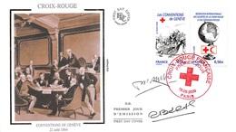 FRANCE. FDC.n°208695. 19/09/2009. Cachet Paris. Croix Rouge. Conventions De Genève. Signé - FDC