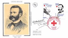 FRANCE. FDC.n°208696. 19/09/2009. Cachet Paris. Croix Rouge. Henry Dunant. Signé - FDC