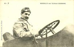 72 SARTHE LE MANS ? PILOTE COURSE AUTOMOBILE RIGOLLY   SUR VOITURE GOBRON   GROS   PLAN  A VOIR - Cartes Postales