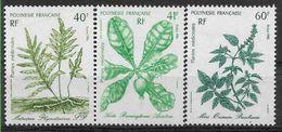 1986 POLYNESIE FRANCAISE 268-70**  Plantes Médicinales - Polinesia Francesa
