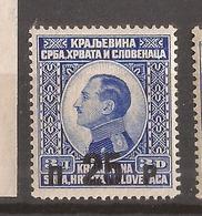 KR-1  1925  186    JUGOSLAVIJA JUGOSLAWIEN   OWERPRINT KOENIG ALEKSANDAR  MNH - Neufs