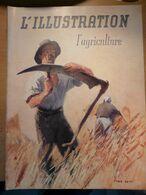 Illustration 1941 Agriculture Minsk Sully Sur Loire Villebon Blé Tracteur Basse Cour Chateau De La Planchette Vilmorin - Giornali