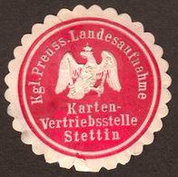 """Siegelmarke Siegel ~1870 """" Stettin Szczecin Pommern KartenVertriebsstelle""""marque De Scau Seal Mark Sigillo Znak Pieczeci - Vignetten (Erinnophilie)"""