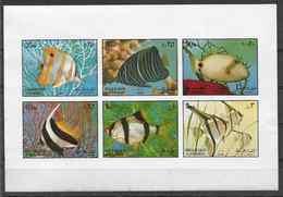 1972 SHARJAH Michel 1194-99 ND ** Poissons D'aquarium, Non Dentelé - Schardscha