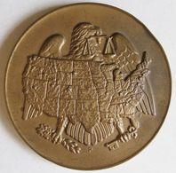 Médaille En Bronze Philadelphie 14 Aout 1969 Ministère Du Trésor. 76 Mm / 224g - Otros