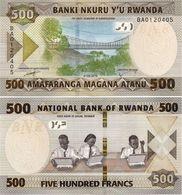 RWANDA       500 Francs       P-New       1.2.2019      UNC - Rwanda