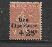 FRANCE    N° 250  *    NEUF AVEC  CHARNIERE - Cassa Di Ammortamento