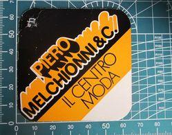 MELCHIONNI IL CENTRO MODA ETICHETTA CARTONE ORIGINAL - Vintage Clothes & Linen