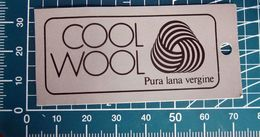 COOL WOOL PURA LANA VERGINE ETICHETTA CARTONE ORIGINAL - Vintage Clothes & Linen