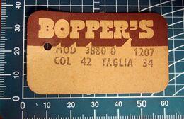 BOPPER'S ETICHETTA CARTONE ORIGINAL - Non Classificati