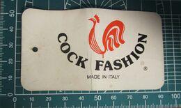 COCK FASHION  ETICHETTA CARTONE ORIGINAL - Vintage Clothes & Linen