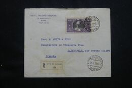 VATICAN - Enveloppe En Recommandé Pour La France En 1938  - L 64697 - Covers & Documents