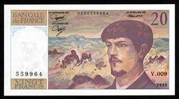 20F Debussy  1982 - V 009 - NEUF - Fay : 66.3 - 1962-1997 ''Francs''