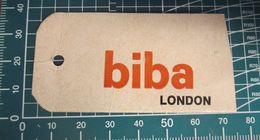 BIBA LONDON  ETICHETTA CARTONE ORIGINAL - Vintage Clothes & Linen