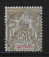 GUYANE - YVERT N° 47 OBLITERE - COTE 2020 = 30 EUR. - Französisch-Guayana (1886-1949)