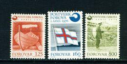 FAROE ISLANDS - 1975 Post Office Set Unmounted/Never Hinged Mint - Faroe Islands