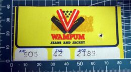 WAMPUM JEANS AND JACKET  ETICHETTA CARTONE ORIGINAL - Vintage Clothes & Linen