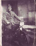 Fotografia Militare Su Moto - Guerra, Militares