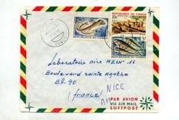 Lettre Cachet Komono Sur Poisson Village - República Del Congo (1960-64)
