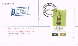 37004. Carta Certificada KEISKAMMAHOEK (South Africa) CISKEI 1983 To Camps Bay - Ciskei