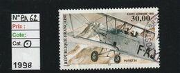 FRANCE POSTE AERIENNE N° 62 - Oblitéré - Cachet Rond - Poste Aérienne