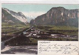 """Landquart - Stabstempel """"Felsenbach-Valzeina"""" - 1904   (00715) - GR Grisons"""