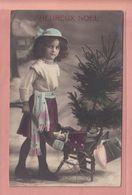 RARER OLD PHOTO POSTCARD -   CHILDREN - GRETE REINWALD - FAMOUS MODEL - CHRISTMAS TREE AND DOLL - Portraits