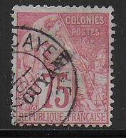 GUYANE - 1892 - YVERT N° 27 OBLITERE CAYENNE - COTE = 165 EUR. - Usados