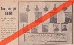 DE GESNEUVELDEN VAN LICHTAART  - 1914 1918 - GEDRUKTE AFBEELDING (uit Een Tijdschrift Van 1920)  - 100 JAAR OUD !!!! - 1914-18