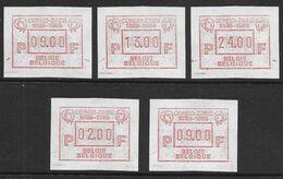 ATM62 Congo - Zaïre Set 9-13-24 + Vignette 02.00 F + Vignette 09.00 F (Nic 063) - Vignettes D'affranchissement
