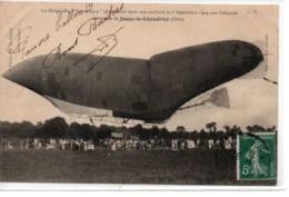 """Le Dirigeable """"République"""" Atterissant Après Son Accident Le 3 Septembre 1909 Aux Policards (2) - Airships"""
