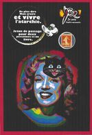 CPM Timbre Monnaie Tirage Limité Numéroté Signé En 30 Exemplaires Chat Cat Marilyn Monroe - Briefmarken (Abbildungen)