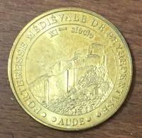 11 CHÂTEAU DE PEYREPERTUSE AUDE MÉDAILLE SOUVENIR MONNAIE DE PARIS 2010 JETON TOURISTIQUE MEDALS COINS TOKENS - Monnaie De Paris