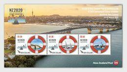 New Zealand 2020 International Stamp Exhibition In Auckland Maritime Bridges SS MNH - Bridges