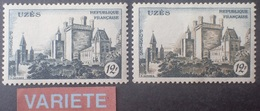 DF40266/2037 - 1957 - CHÂTEAU D'UZES - N°1099  NEUFS* - VARIETE ➤➤➤ Bistre Absent - Cote (2020) : 84,00 € - Varieteiten: 1950-59 Postfris