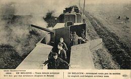 Train Blindé Actionné Par Des Artilleurs Anglais Et Belges - 1914 WWI WWICOLLECTION - Guerre 1914-18