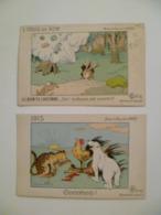 CPA / Lot De 2 Cartes Postales Anciennes / Ill Benjamin RABIER / L'obus De 420 & 1915 - Rabier, B.