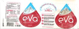 EVA  ACQUA FRIZZANTE 1.5 L ETICHETTA PLASTICA  ITALY - Etichette