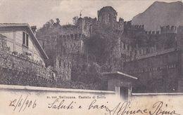SVIZZERA - BELLINZONA - CARTOLINA - CASTELLO DI SVITTO - VIAGGIATA PER GENOVA (ITALIA) - TI Ticino