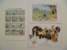 CPA / Lot De 3 Cartes Postales Anciennes Publicitaires / Ill Benjamin RABIER - Rabier, B.