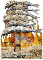 España. Spain. 2020. Euromed. Gastronomía Tradicional Del Mediterráneo. Espeto - 1931-Hoy: 2ª República - ... Juan Carlos I