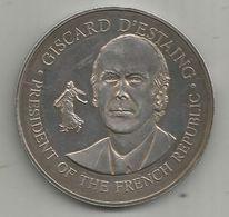 JC , Médaille , Argent 1 Er Titre , May 1976 , United States Bicentennial Visit , Giscard D'Estai  , Frais Fr 3.15 E - Otros