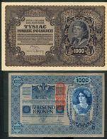 LOT DE 5 BILLETS D'AUTRICHE - ALLEMAGNE - POLOGNE - Lots & Kiloware - Banknotes