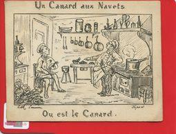Paris  Lith Lemaine Chromo Question Devinette Carnard Navets Navet Cuisinier Marmiton Cuisine - Otros