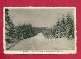 C.P.  Hockai  = La  Route  De Hockai à  Mont-Xhoffraix  En Hiver - Stavelot